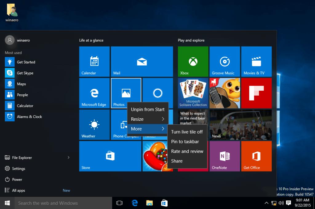 windows 10 customization