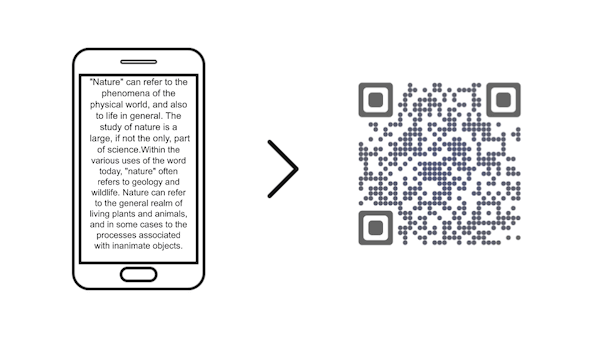 qr code for text