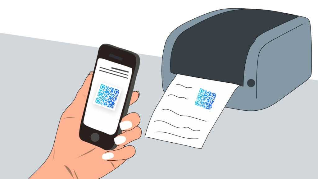 qr code for printing